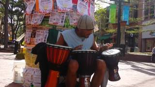 Beau Plays Djembe to Jammin by Bob Marley
