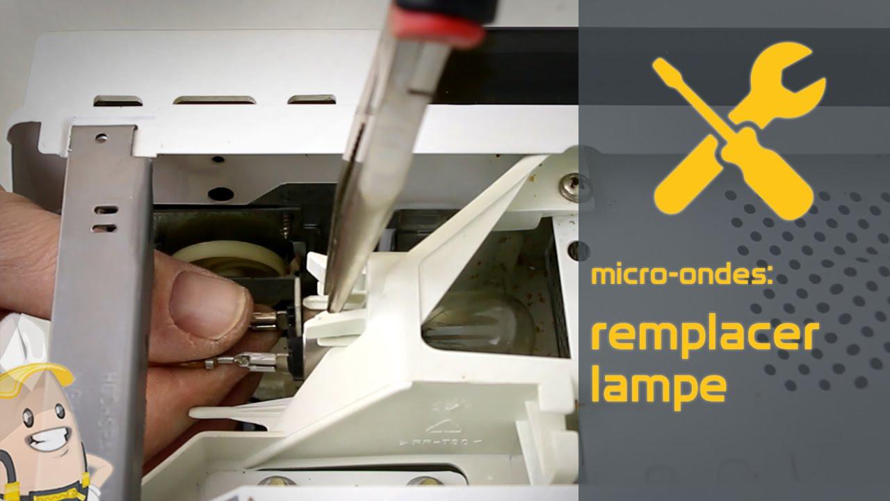 Micro Onde Au Dessus Du Four remplacer la lampe de votre micro-ondes | la méthode référencepieces.fr