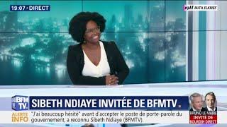 """Sibeth Ndiaye avoue avoir """"beaucoup hésité"""" avant d'accepter la proposition d'Edouard Philippe"""