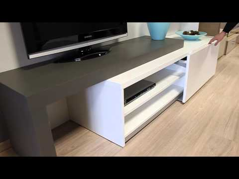 meuble tv extensible youtube. Black Bedroom Furniture Sets. Home Design Ideas