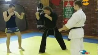 Синдо рю каратэ против муай-тай (кикбоксинг)