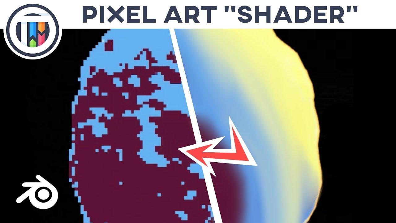 Blender 28 Eevee Tutorial How To Create Pixel Art Using 3d Objects Pixel Shader Tutsbykai