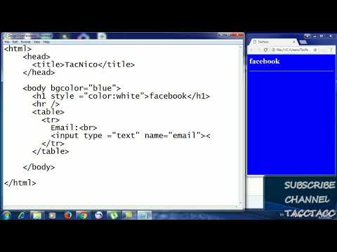 How To Learn HTML In Notepad (design Form Facebook)