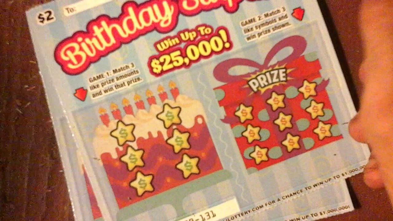 5 Birthday Surprise Tickets New Jersey Lottery