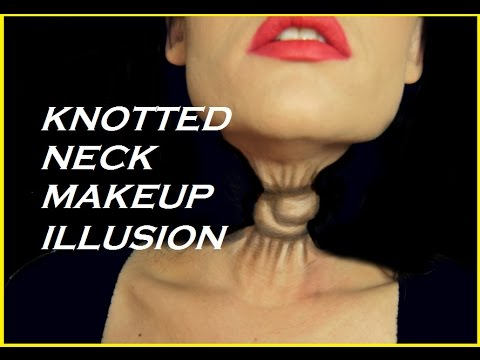 knotted neck makeup optical illusion tutorial halloween 2018 face painting