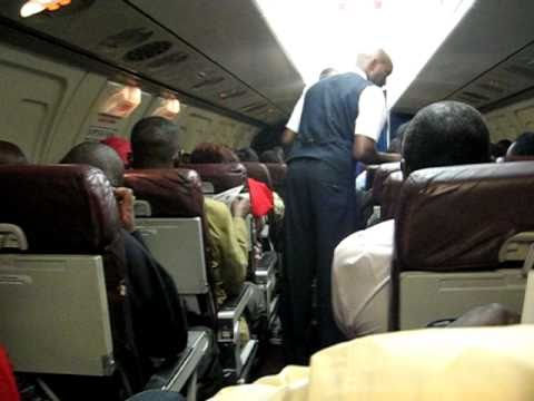 East African Safari Air Express Fokker F28 In Flight - Cabin View