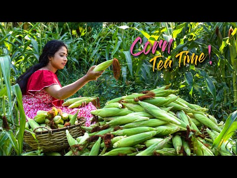 I made Sweet and Spicy tea time delicacies from my Brother's corn harvest | Traditional Me