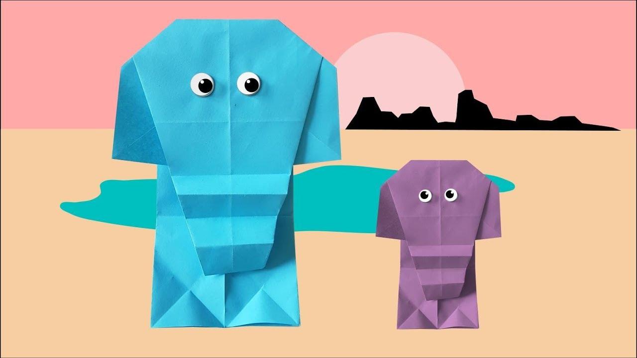 Elefant Falten Origami Elefant Youtube