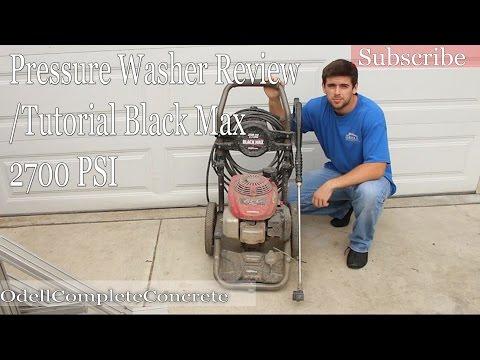 Pressure Washer Review/Tutorial Black max 2700 PSI Honda Motor