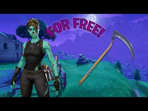 HOW TO GET GHOUL TROOPER AND SCYTHE ON FORTNITE FOR FREE IN 2018!!
