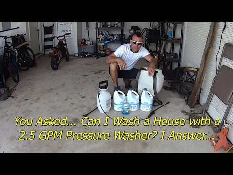 Doing a Basic House Wash with Entry Level Equipment - Pressure Wash Business