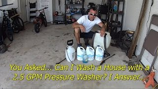 Doing a House Wash with Basic Entry Level Equipment - Pressure Wash Business