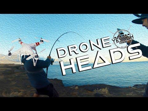 Fighting Monsters  DRONE HEADS  Big Island Hawaii Drone Cliff Fishing