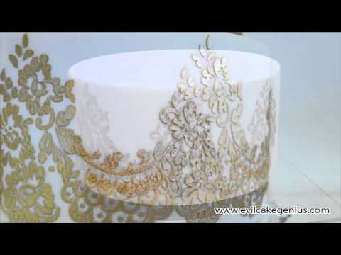 lace templates for cakes - evil cake genius mantilla lace cake stencil youtube