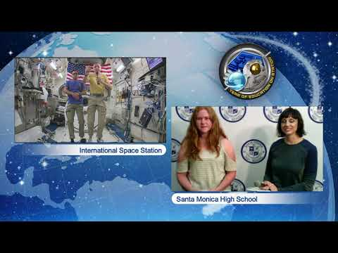 Space Station Crew Discusses Life in Space with California Students