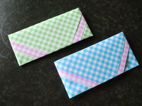 簡単 折り紙 折り紙 封筒 作り方 : youtube.com