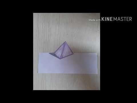 How to make 3d purple pyramid (tutorial)