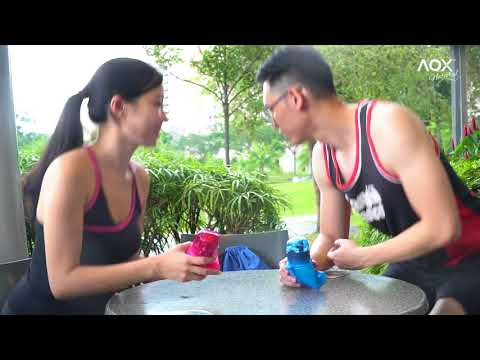 AOX Medical Grade Silicone Collapsible Sports Bottles