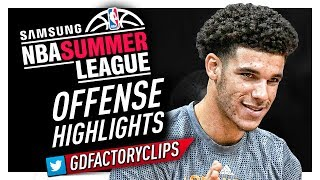 Lonzo Ball MVP Offense Highlights (2017 Summer League) - LA Lakers Debut!