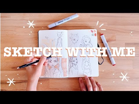 Sketch With Me #1 | Filling the first page of a new sketchbook! 🌙 thumbnail