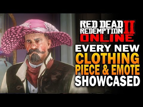 Every New Piece Of Clothing & New Emotes! Red Dead Redemption 2 Online Beta Update [RDR2] thumbnail