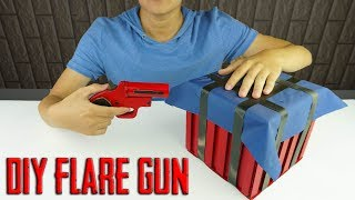 How to make FLARE GUN in PUBG From Cardboard  DIY By King OF Crafts