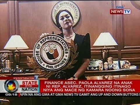 Finance Asec. Paola Alvarez na anak ni Rep. Alvarez, itinangging itinago niya ang mace ng Kamara