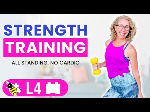 Repeat FUN 30 minute CARDIO + STRENGTH workout without