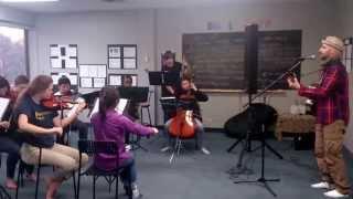 """Bye Bye, So Long"" Chamber Strings in rehearsal with Michael Gabriel"