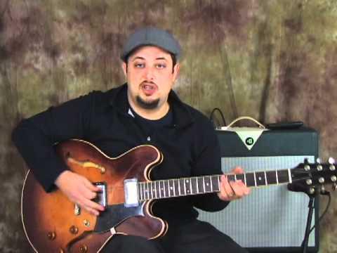 Blues guitar lessons - thirds - blues rhythm Guitar Playing