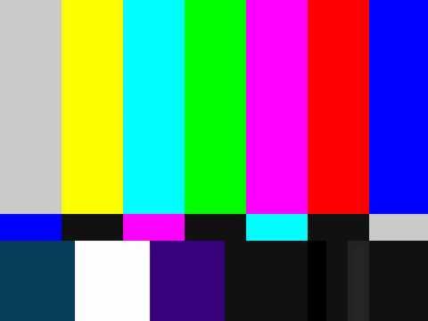 color bars-tv lost signal