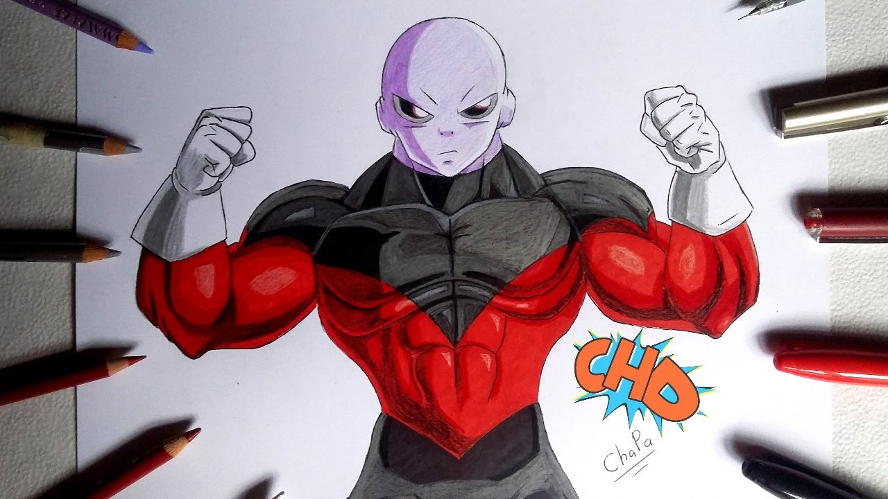 DIBUJANDO A JIREN/ DRAWING JIREN DRAGON BALL SUPER Ep 96