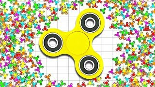 WORLD'S BIGGEST FIDGET SPINNER IN HUMAN HISTORY! (Fidget Spinner free games) (Barbs.io World Record)