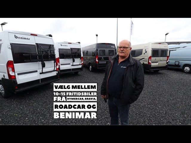Vælg mellem 10-15 Fritidsbiler fra Bravia, RoadCar, Benimar og HymerCar