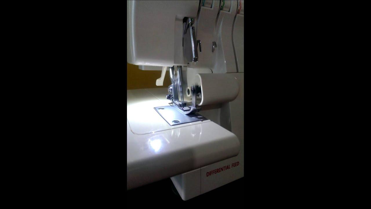 Maquina De Coser Overlock Singer 14sh654 Ultra Lock - YouTube