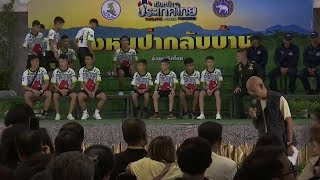 Thailand soccer team rescued from cave hold news conference -- Watch Live
