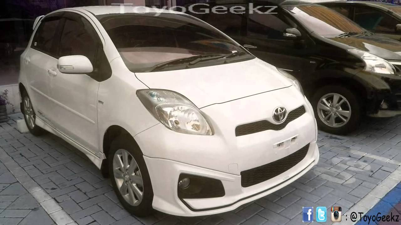 toyota yaris trd 2013 indonesia youtube. Black Bedroom Furniture Sets. Home Design Ideas