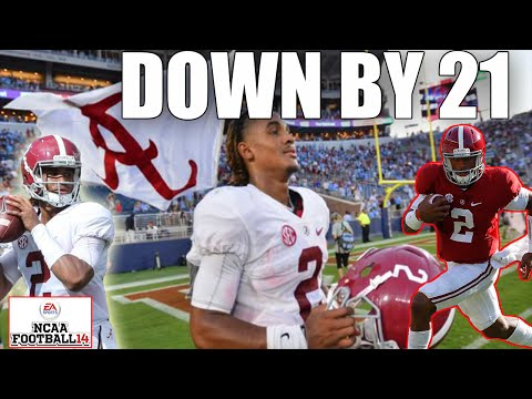 TRYING TO CLIMB OUT OF 21 POINT HOLE WITH JALEN HURTS!! JALEN HURTS CHALLENGE: ALABAMA VS OLE MISS