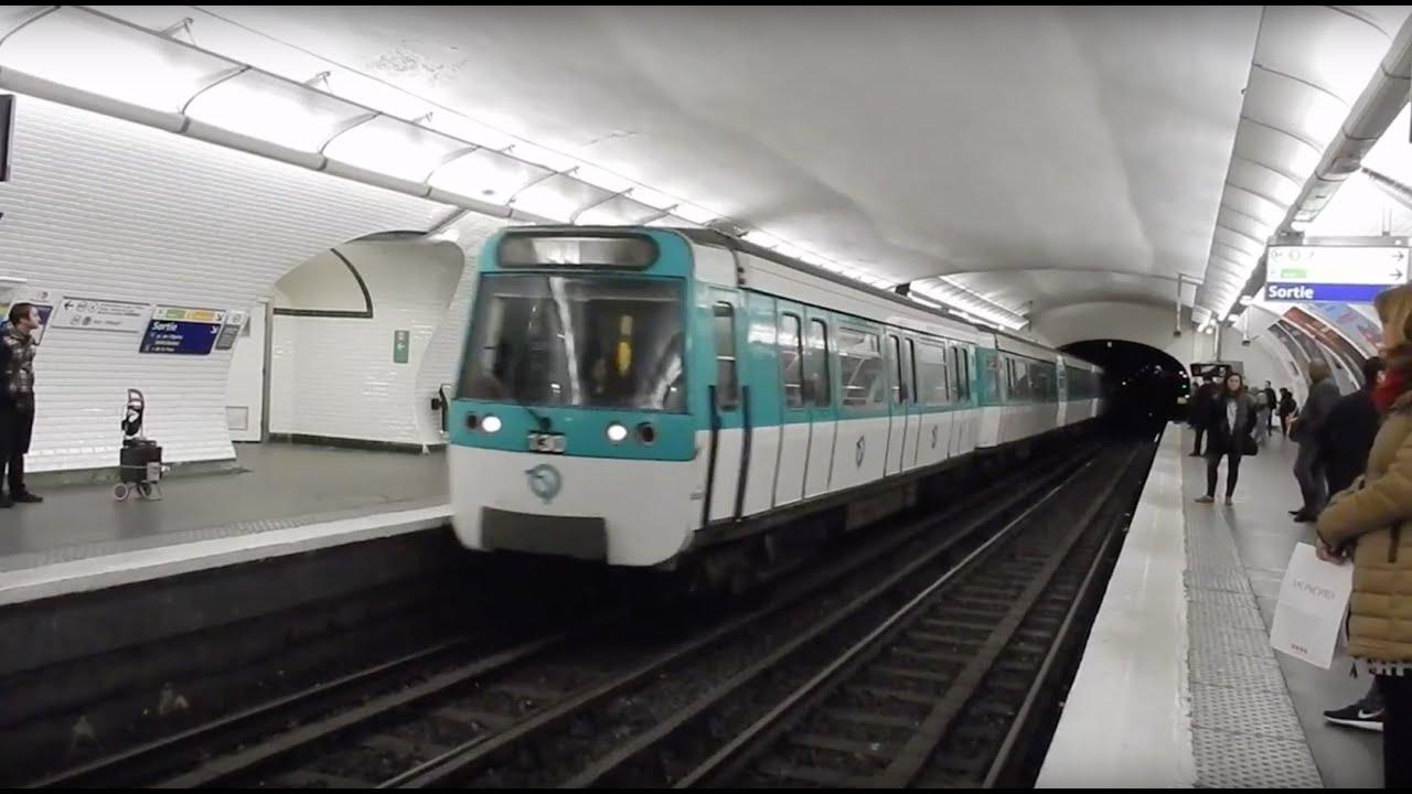 metro paris type mf 77 ratp ligne 7 et 8 op ra youtube. Black Bedroom Furniture Sets. Home Design Ideas