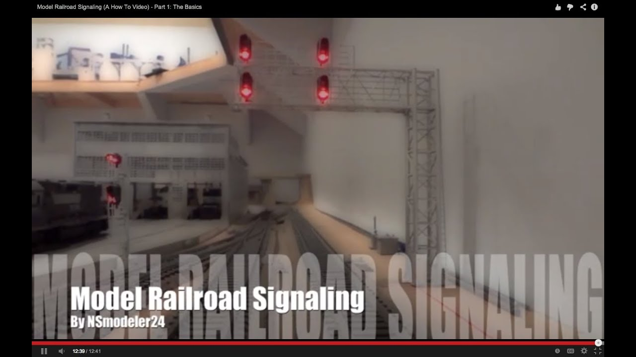 model railroad signaling a how to video part 1 the basics [ 1280 x 720 Pixel ]