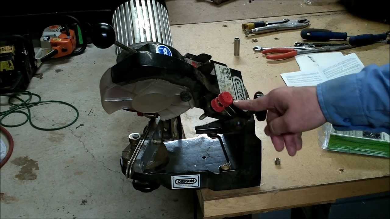 how to sharpen a chainsaw chain blade and set up your chain rh youtube com 511AX Bench Chain Grinder Chainsaw Sharpening Tools