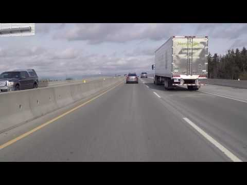 Driving in DELTA BC Canada - Highway to Surrey - South Fraser Perimeter Road (SFPR)