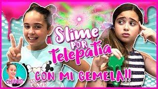 SLIME por TELEPATIA con mi GEMELA!! 🤯 CLODETT vs JANNETTE!! 👭 TELEPATHY SLIME challenge!!