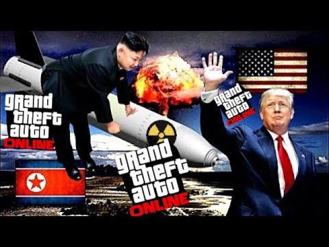 GTA 5 ONLINE ( US Army VS North Korea ) nuclear war, Gameplay HD