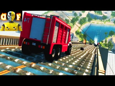 BeamNG.drive - Continuous Speed Bumps Downhill Crashes #2