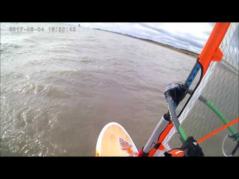 Hill Head Windsurfing Session