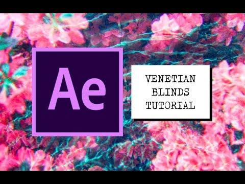 VENETIAN BLINDS TRANSITION EFFECT AE