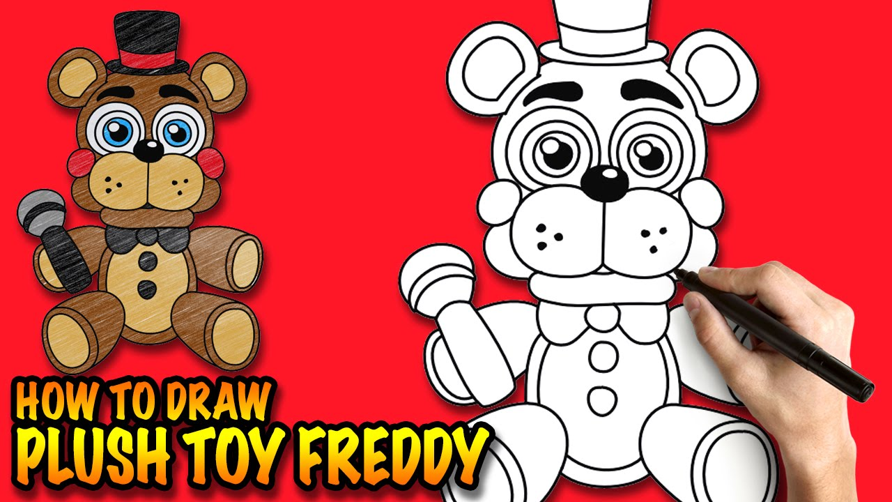 How to draw fnaf freddy steps - How To Draw Plush Toy Freddy Fnaf Plushies Easy Step By Step Drawing Tutorial Youtube
