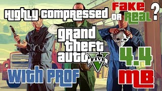 [4.4 mb] How to download Gta v highly compressed | work or not | 100% proof fake or real | 2017