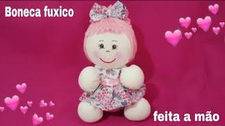 Boneca de Fuxico com Vestido Super Fácil – Feita a Mão